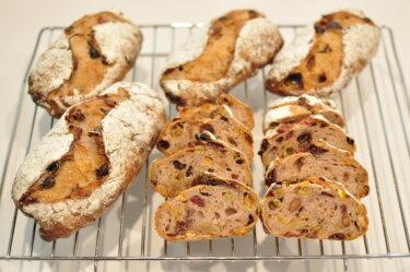 もっちりしっとり食感が新しいナッツ&フルーツのパン